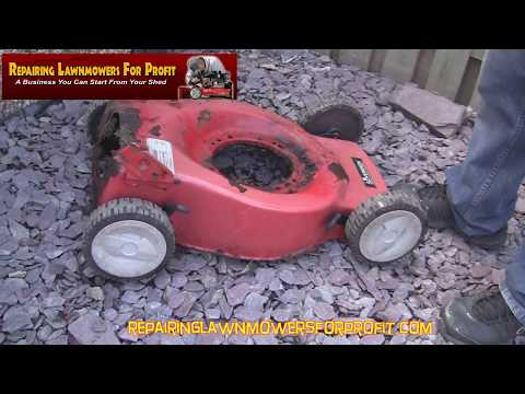 Repairing Lawnmowers For Profit Part 108 (How To Remove A Lawnmower Engine)