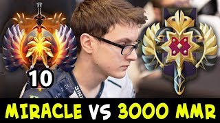 When TOP-10 meets 3000 MMR — MIRACLE vs Legend Rank