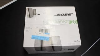 Bose Companion 20 Multimedia Speaker System Unboxing