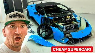 REBUILDING A WRECKED LAMBORGHINI HURACAN PERFORMANTE  *PART 1*