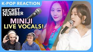 Secret Number (시크릿넘버) NEW MEMBER MINJI Live Vocals REACTION (PRODUCE48)