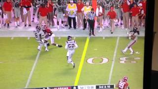 Alabama Moving spot for first down