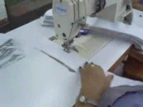 Ejemplo de subir productividad de Cerrar cuello camisa coser y cortar.