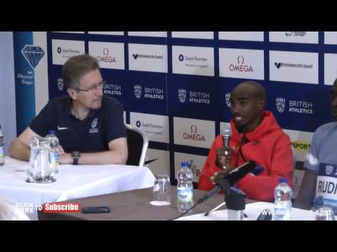 MO FARAH SAYS HE IS READY TO ENTERTAIN AGAIN AFTER MISSING LAST YEARS COMPETITION | NUFFIN'LONG'TV