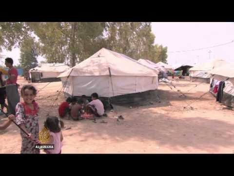 Iraq refugees overwhelming camps