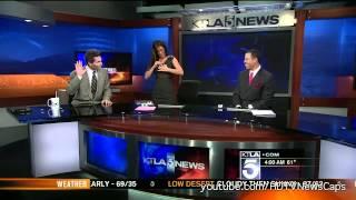 Megan Henderson late for morning newscast