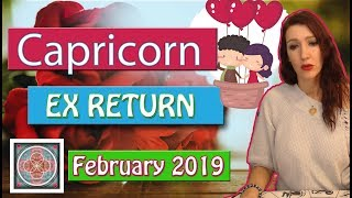 """Capricorn """" EX RETURNS"""" Obsessed Ex February 2019  LOVE READINGS"""