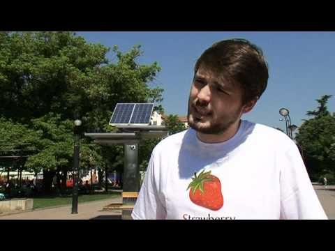 BBC News and Strawberry energy from Serbia