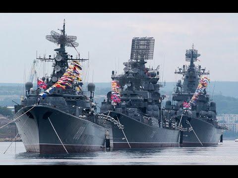 Парад военных кораблей в Севастополе на день ВМФ