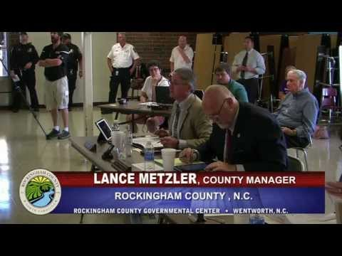August 3, 2015 Rockingham County Commissioners