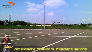TREX 700 and WREN TURBINES 44 Heli Turbine by Denis Ferrari