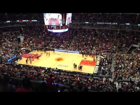 Benny the Bull halftime show. 16 11 2013