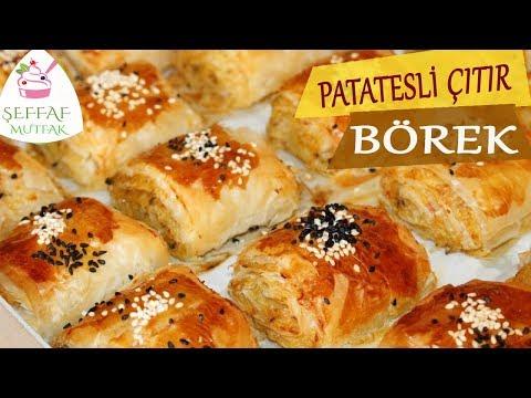 PATATESLİ ÇITIR BÖREK/Baklavalık Yufka ile/ŞEFFAF MUTFAK