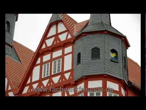 Die schoensten historische Fachwerk Rathaeuser in Deutschlan