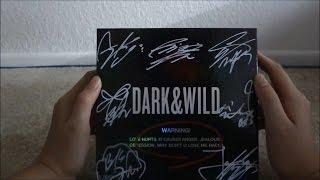 ASMR Unboxing BTS Dark & Wild Signed Album [Page Turning/Flicking/Rubbing, Tapping, Whispering]