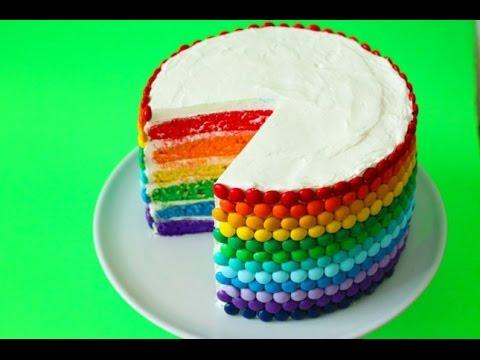 Цветной бисквитный торт рецепт
