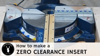 How to make a miter saw zero clearance insert