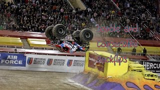 Monster Jam double and consecutive backflips