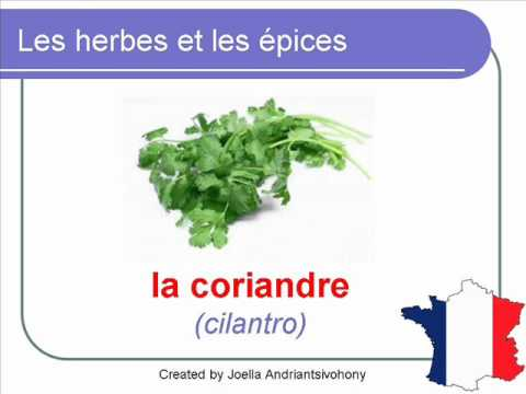 French Lesson 29 - FOOD VOCABULARY - HERBES ET ÉPICES (Herbs and spices)