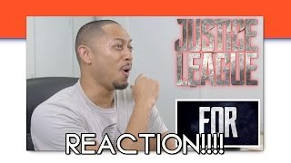 JUSTICE LEAGUE - Official Trailer 1 REACTION!!