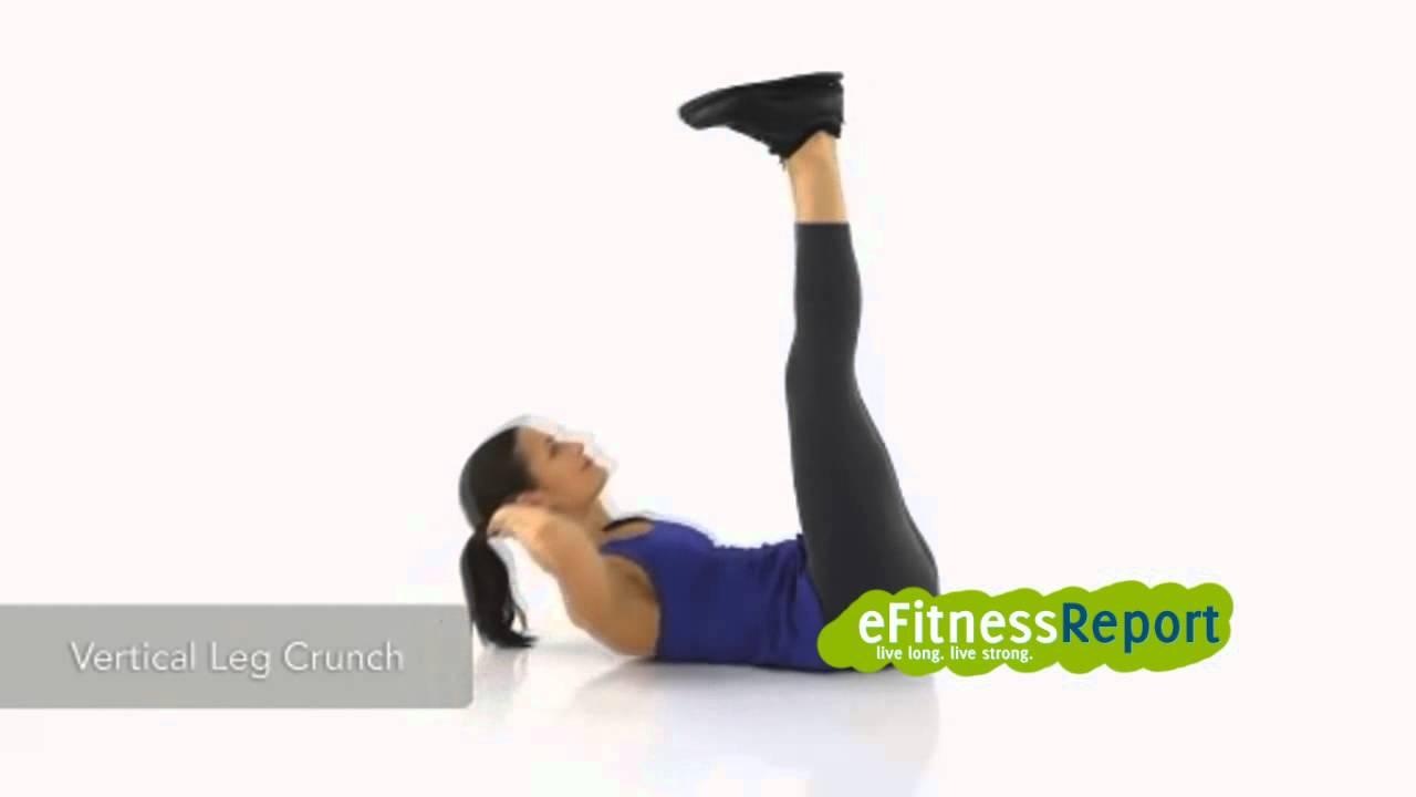 How To Do A Vertical Leg Crunch - eFitnessReport.com - YouTube
