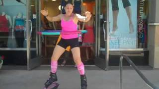 """Hoola Hooping"" with Kangoo Jumps at Lucy Kierland!"