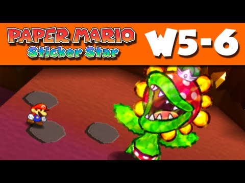 Paper Mario Sticker Star - World 5-6 - Rumble Volcano W5-6 (Nintendo 3DS Gameplay Walkthrough)