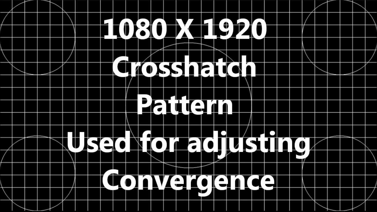 1080 HD High Definition H.D. Crosshatch Video Pattern for