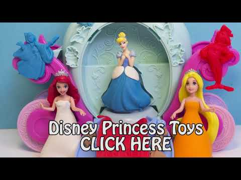 Play Doh Disney Princess Ariel Playdoh Cinderella Magical Carriage Clay Hasbro Toy