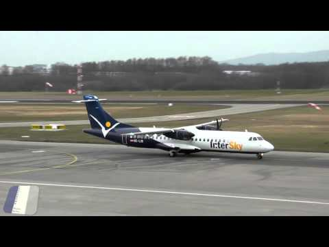 New Intersky (ATR) vs Old Intersky (Dash8) landing at FDH [HD]