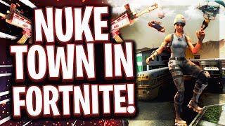 ☢️😍NUKE TOWN IN FORTNITE! | Team Deathmatch Sniper Only! | Creativ Mode!