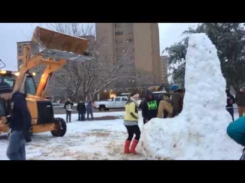 Snow Penis 2015 Texas Tech
