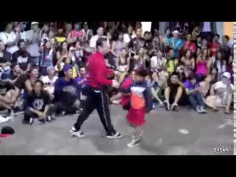 Niño baila Break Dance mejor que un Break Dancer Profesional