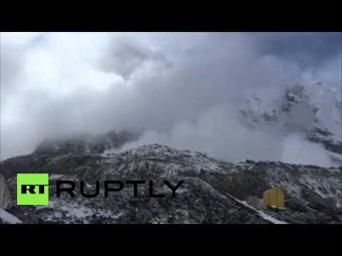 Nepal: Mount Everest avalanche narrowly avoids base camp
