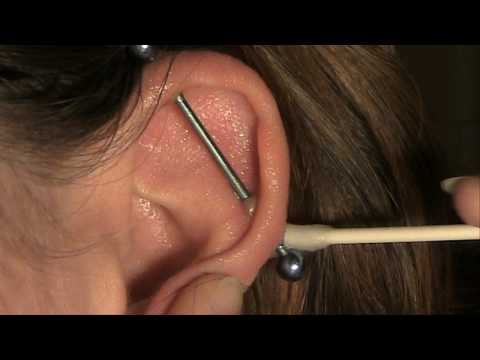 How to Clean an Industrial/Scaffold Piercing