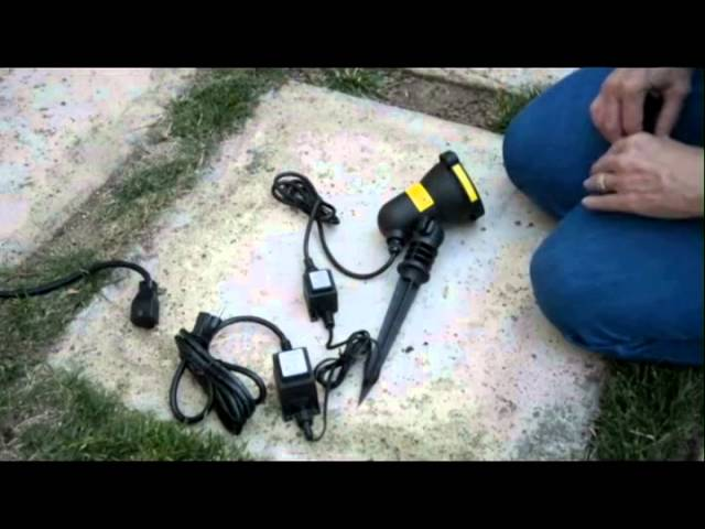 How To Set Up A Spright FireFly Out Door Laser Projector