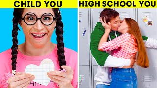 HIGH SCHOOL YOU VS CHILD YOU || Different Types Of People Relatable Moments!