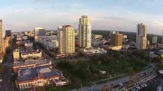 Aerial video of Downtown St Petersburg, Florida