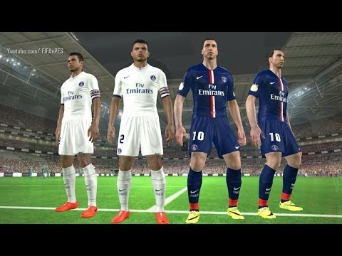 PES 2014 - PSG New Kits 2014 - 2015 ║ Home/Away ║