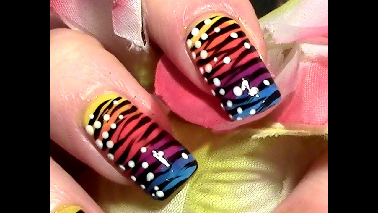 exotic nails nailart selber machen nageldesign tutorial fingern gel lackieren f r. Black Bedroom Furniture Sets. Home Design Ideas