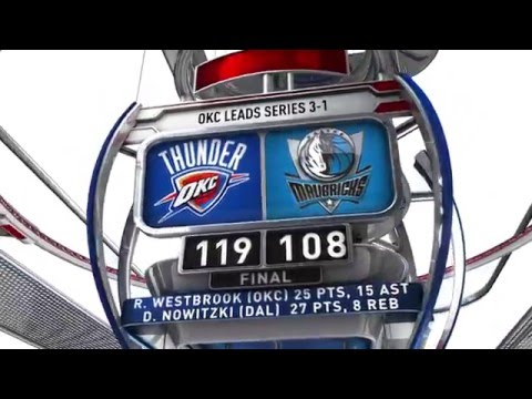 Oklahoma City Thunder vs Dallas Mavericks - April 24, 2016