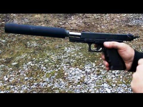 Full Auto Glock 17 conversion with YHM Supressor +BONUS Call of Duty POV