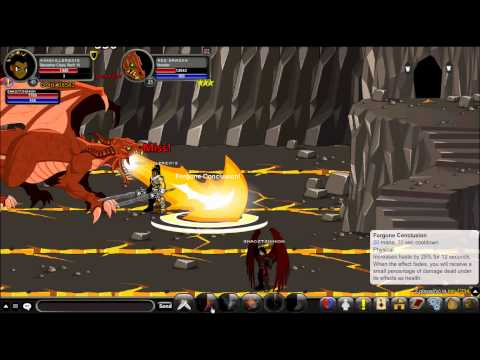 Kingkiller2013 - AQW Beserker Class Vs. Dragons. with enhancements