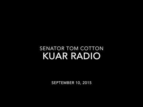 September 10, 2015: Sen. Tom Cotton joins KUAR Radio to discuss the Iran Deal