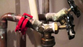 Seized hose on a clothes washer tap