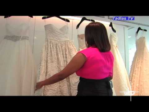 Tour of Amsale's Bridal Boutique and reality TV show called Amsale Girls