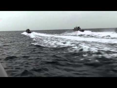 Coast Guard Multiple Boat Pursuit Drill during Tradewinds 2013