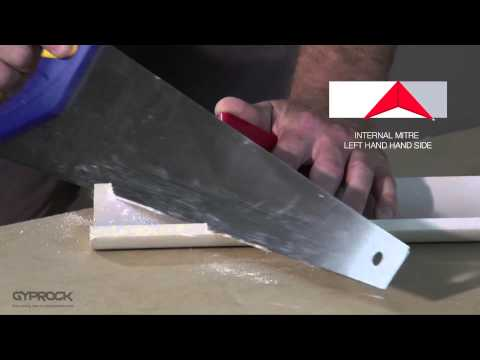 Installing Gyprock plasterboard - How to cut and install Gyprock cornice