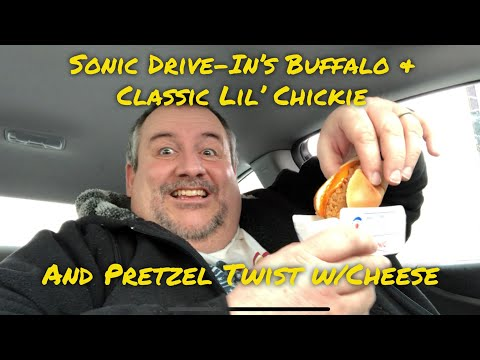 Sonic Drive-In Lil Chickies and Pretzel Twist with Cheese
