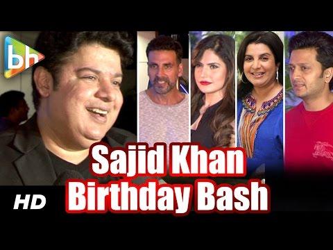 Akshay Kumar | Riteish Deshmukh | Farah Khan | Zareen Khan At Sajid Khan's Birthday Bash